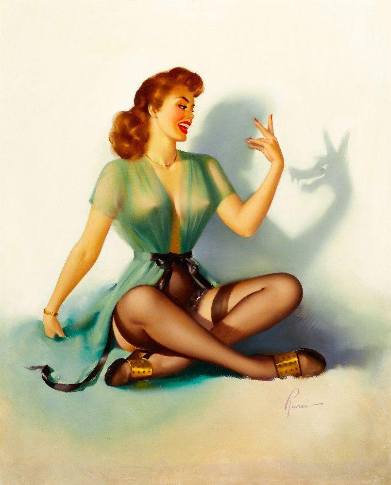 Miraculous Vintage Pin Up Girl The Vintage Pin Up Girls Of Edward Runci Hairstyles For Men Maxibearus