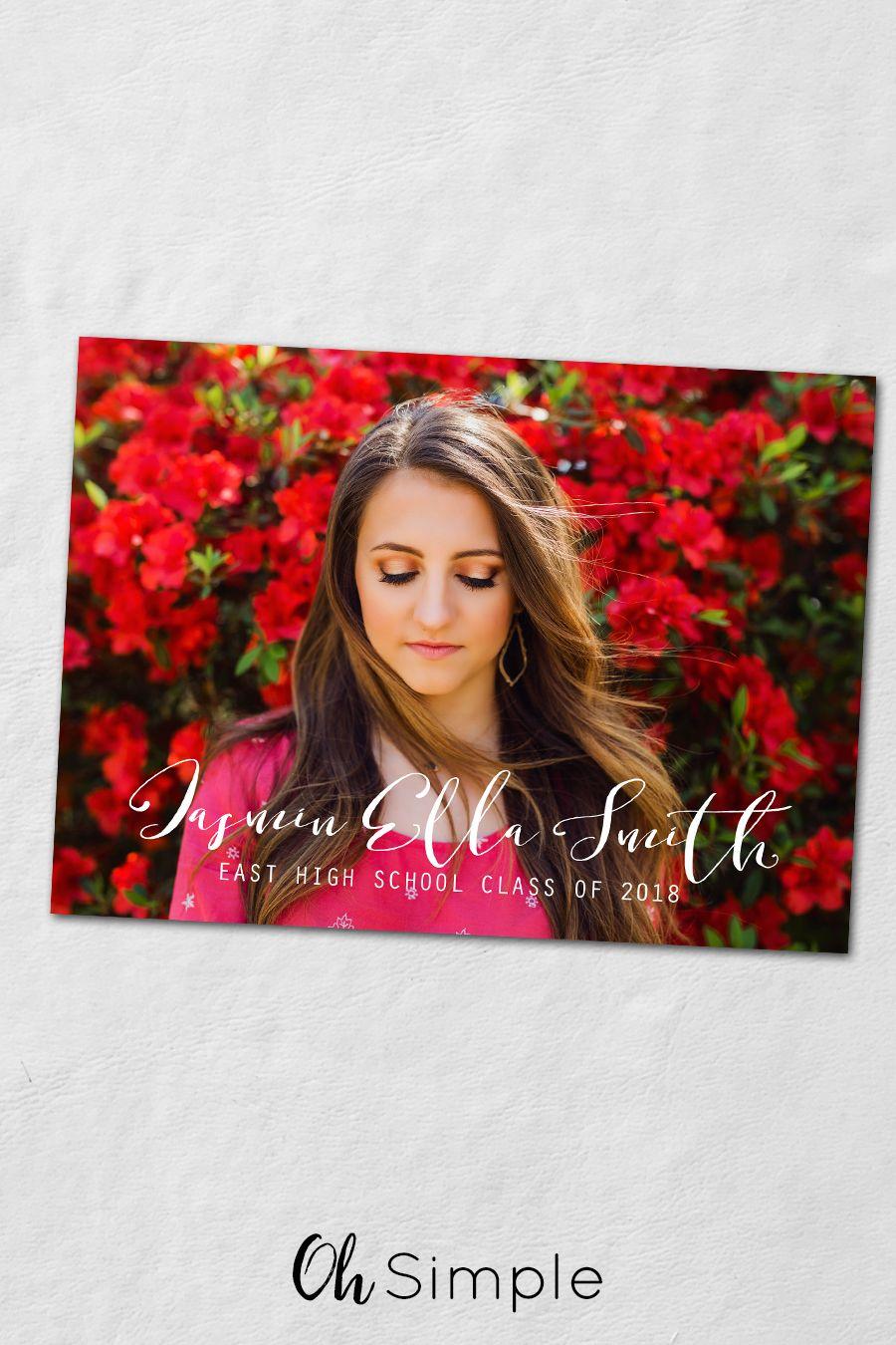 Senior photo idea   Graduation invitations   Class of 2018 ...