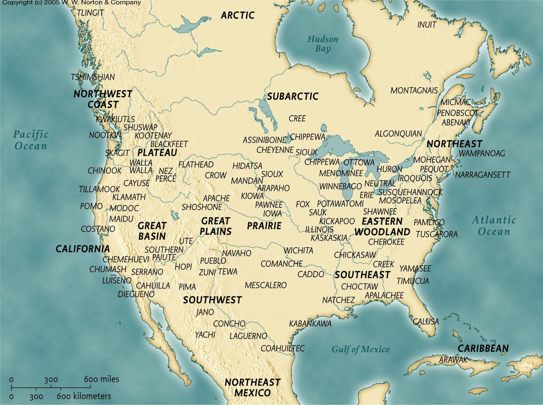 Indigenous tribes of North America, 1491 | Geschichte der ...
