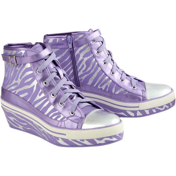 Metallic Hightop Wedge Sneakers Sneakers 50 Liked On Polyvore Justice Shoes Girls Shoes Sneakers Girls Sneakers