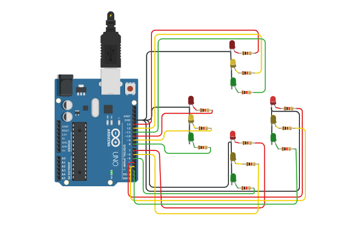 Traffic Light Controlling System Traffic Light Circuit Design Traffic