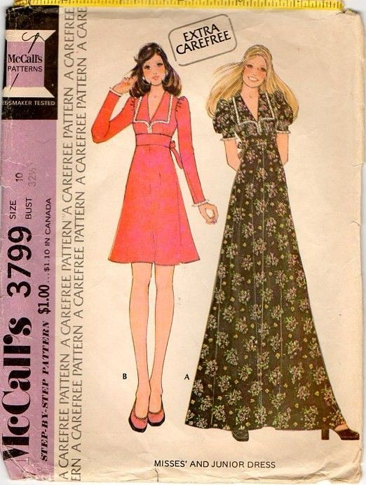 Oh the 70\'s - made this dress too! | Illustration | Pinterest ...