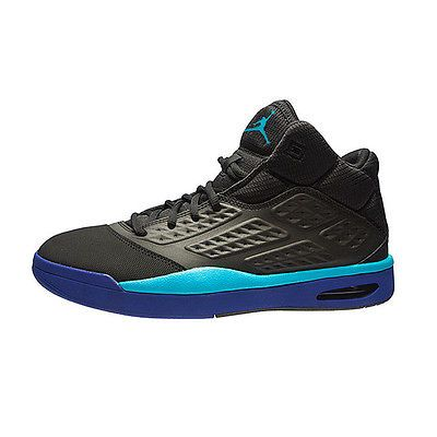 big sale 706bc 11ca0 Jordan New School Mens 768901-008 Black Blue Concord Basketball Shoes Size  11.5