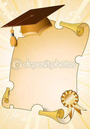 Fondo de graduación — Vector de stock © TAlexey #7078237