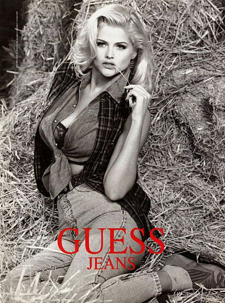 1989 GUESS Georges Marciano Swimwear CLAUDIA SCHIFFER Print