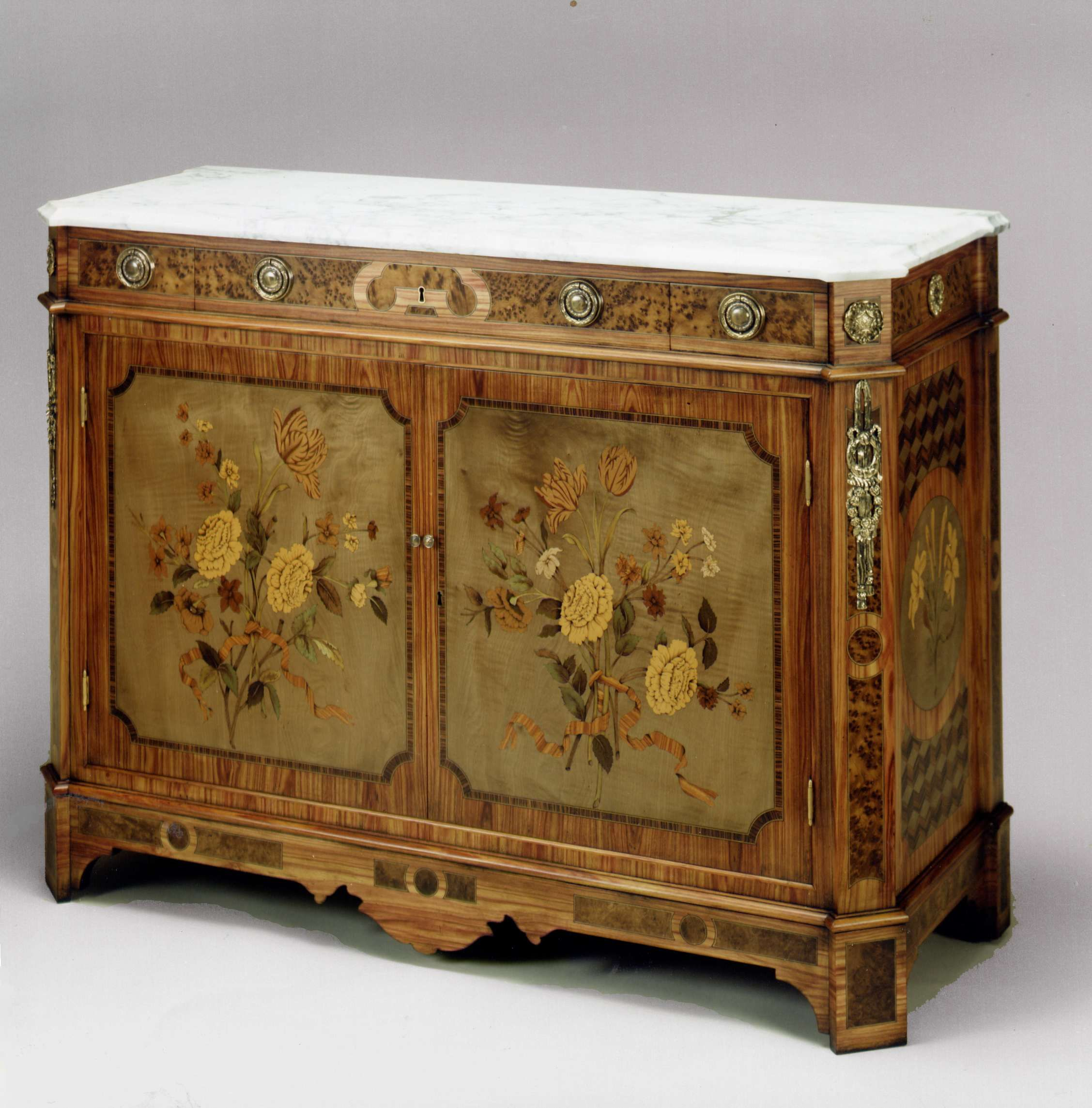 Muebles Italianos Clasicos Tulipwood And Marquetry Cabinet Copied From A Bibliotheque