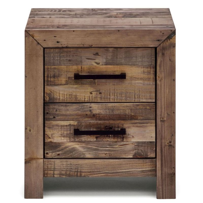 portland recycled timber bedside table night stand night stand
