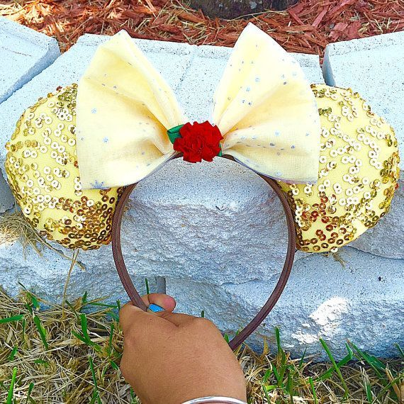 Disney Beauty And The Beast Belle Minnie Mouse Ears By