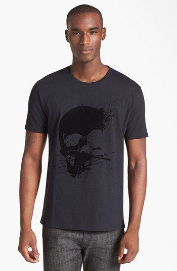 The Kooples Velvet Skull Crewneck T Shirt Nordstrom T Shirt Shirts Crew Neck