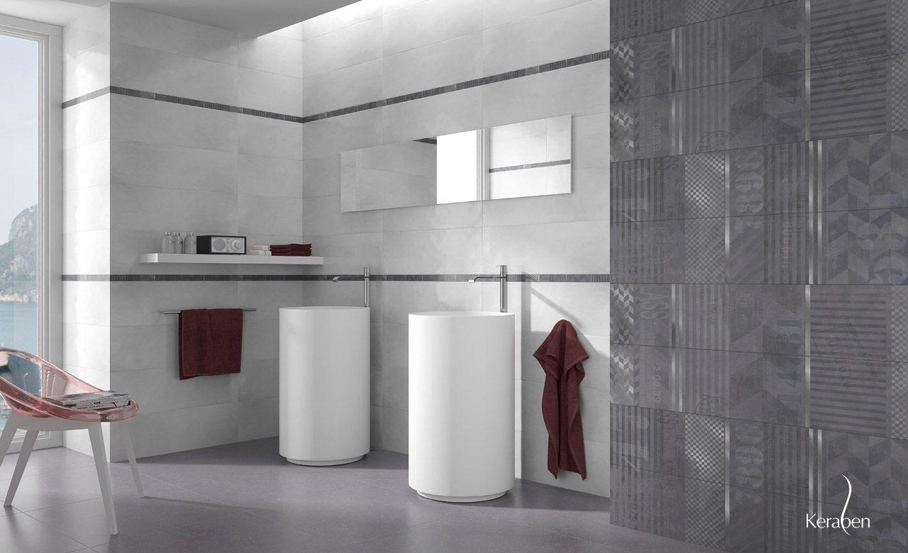 Colección Betón de #Keraben, perfecta para #baños con #estilo y ...