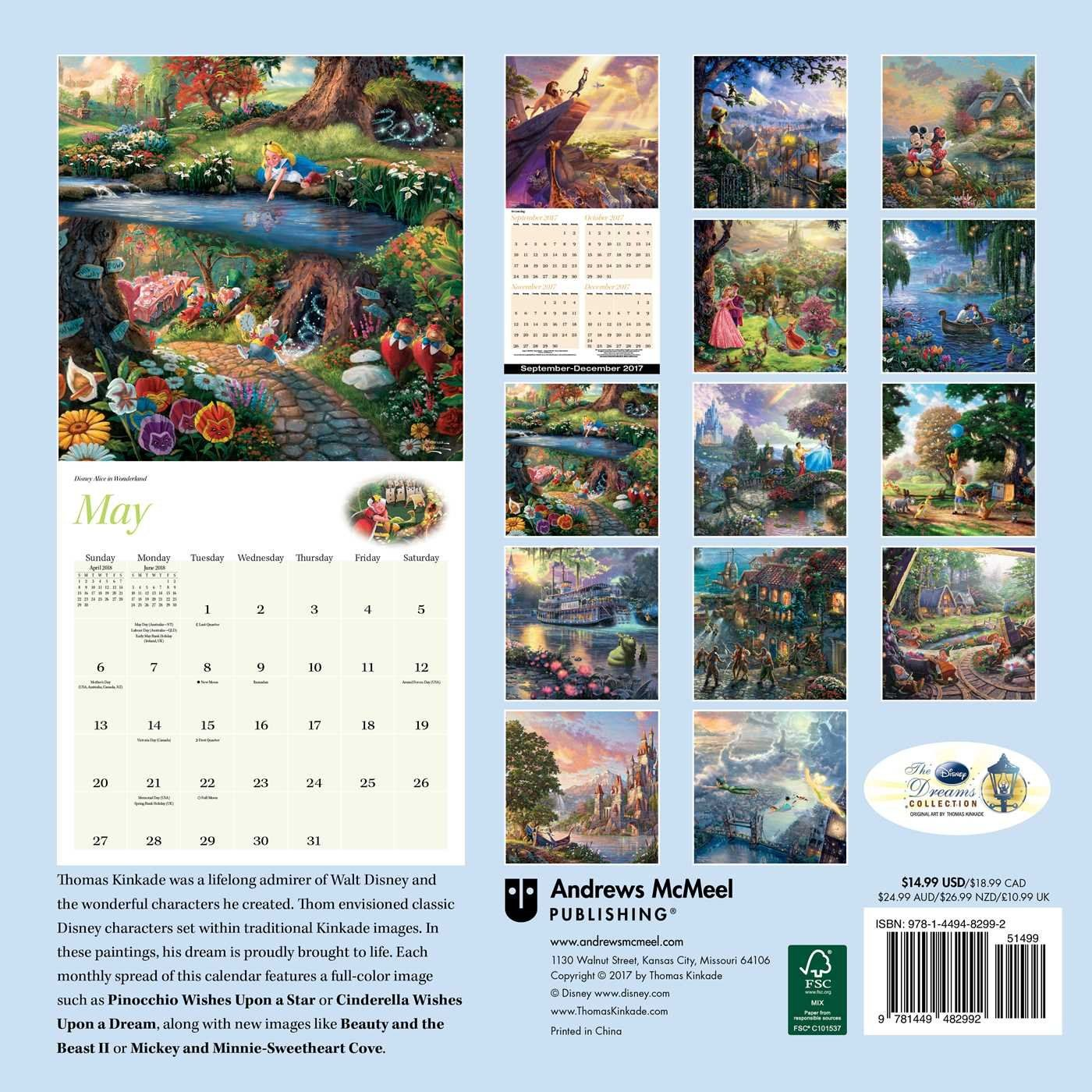 for christmas 2019 thomas kinkade the disney dreams collection 2018 wall calendar. Black Bedroom Furniture Sets. Home Design Ideas