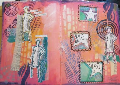 Art Journal spread from the Dina Wakely class