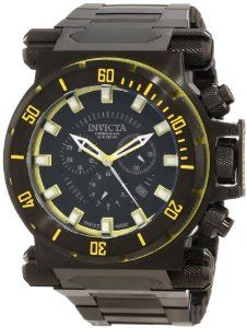 Invicta Men's 10035 Coalition Forces Chronograph Black Dial Watch