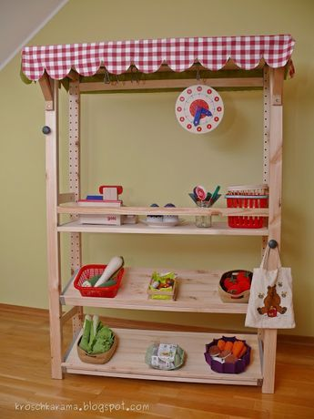 kroschka ikea hack kaufladen aus einem ivar regal kinderzimmer pinterest. Black Bedroom Furniture Sets. Home Design Ideas