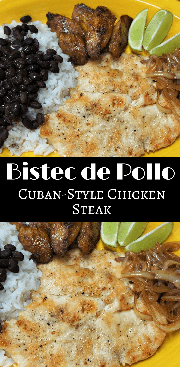 Steak – Bistec de Pollo a la Plancha, in Spanish, is popular dish that's found in Cuban restaurants all over Miami. via @cook2eatwellChicken Steak – Bistec de Pollo a la Plancha, in Spanish, is popular dish that's found in Cuban restaurants all over Miami. via @cook2eatwell