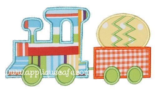 Easter Train Applique Design $2.60