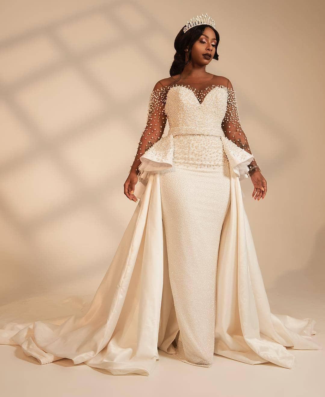 For That Stunning Reception Dress! Belle @boity Hair