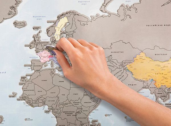 A scratch off world map lets you mark out the countries that you a scratch off world map lets you mark out the countries that you have visited gumiabroncs Choice Image