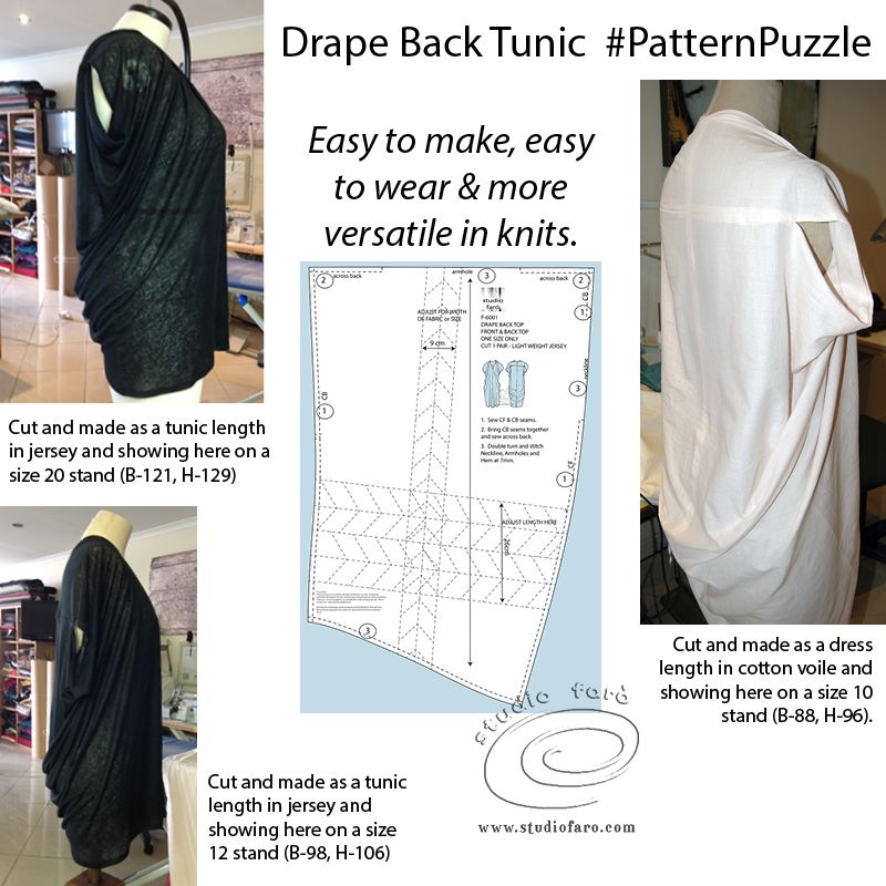 You Can Buy My Pdf Download On The Website Pattern Puzzle Drape Back Dress Ideal For Summer Relaxa Maxi Dress Pattern Clothing Patterns Easy Sewing Patterns