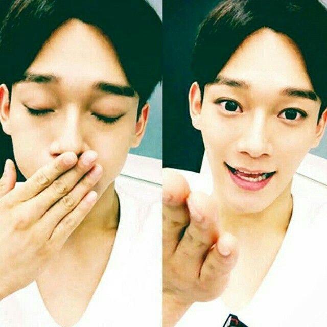Exo relay chat- Chenu0027s selca ♡♡♡Chen Chen~ Pinterest Exo