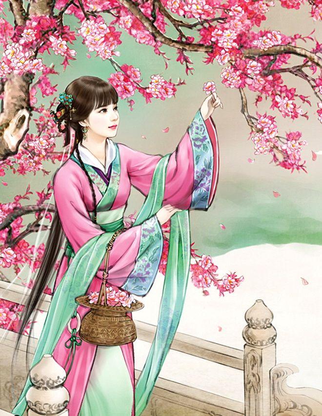 Картинки нарисованные японки