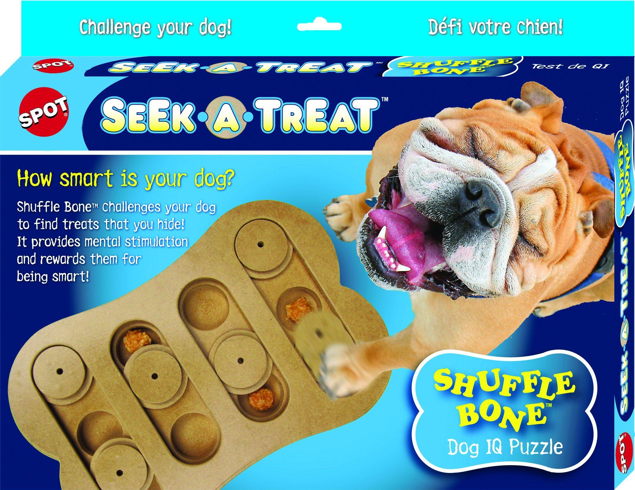 Spot Ethical Pet Interactive Seek A Treat Shuffle Bone Toy Puzzle