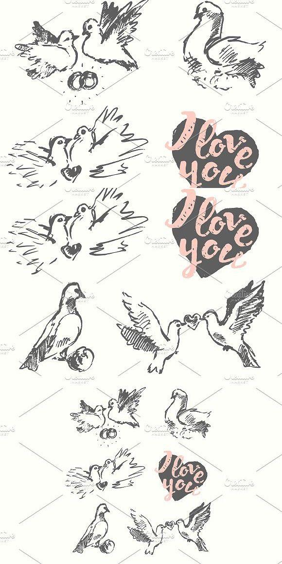 Wedding Pigeon Symbol Of Love Wedding Card Templates Wedding