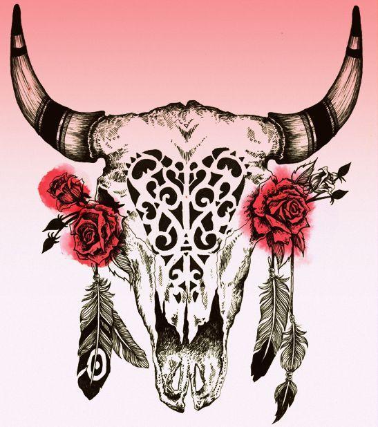 bull skull tattoo - Google Search