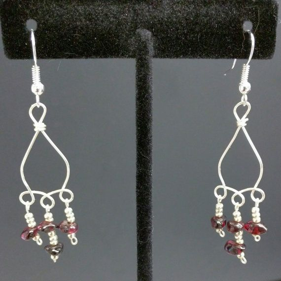 Garnet Earrings by Jewelrybyila on Etsy