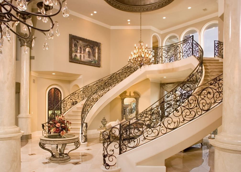 Best Grand Foyer With Images Staircase Design Double 640 x 480
