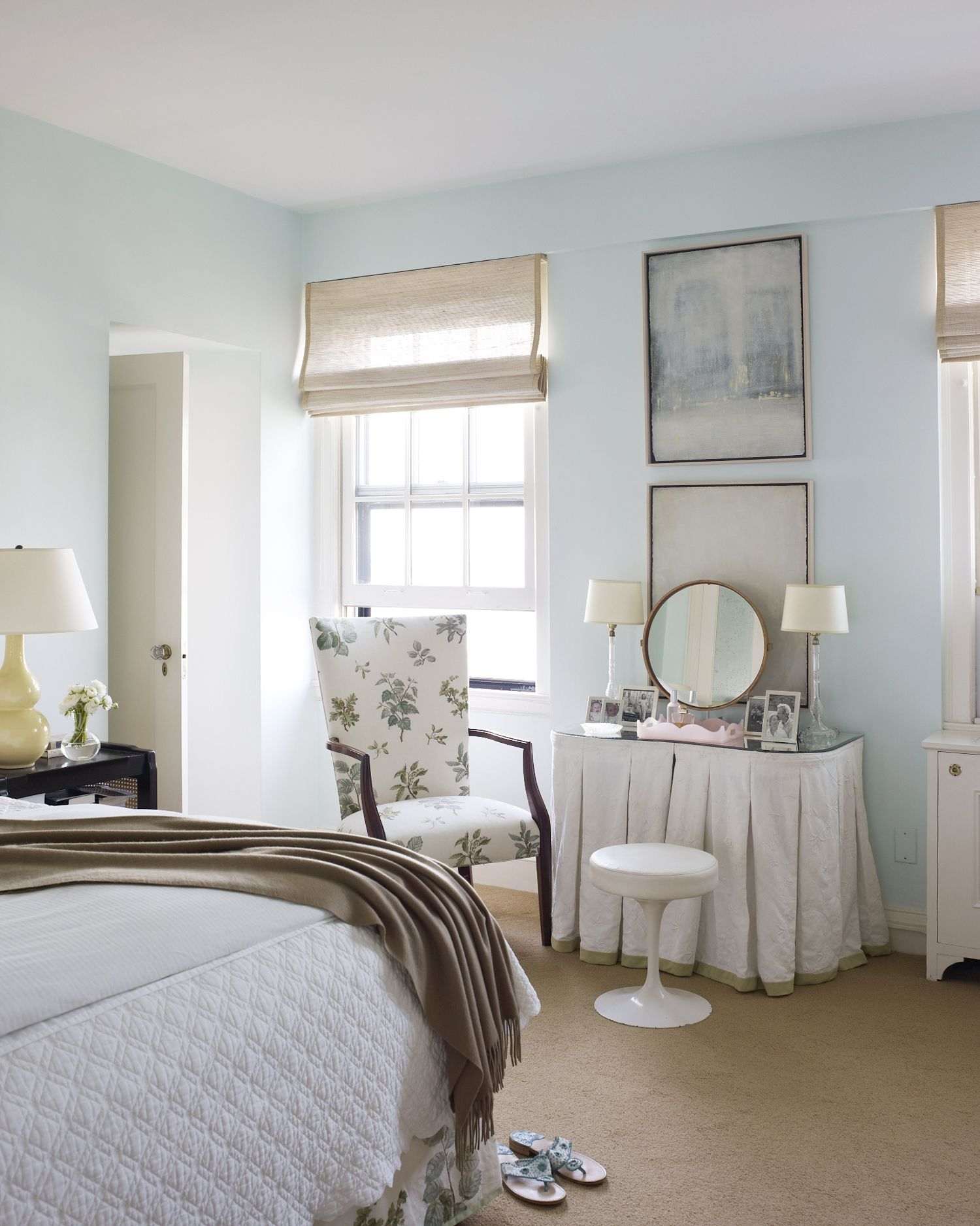 Beautiful Bedroom Girls With Dressing Room: Another View Of This Blue And White