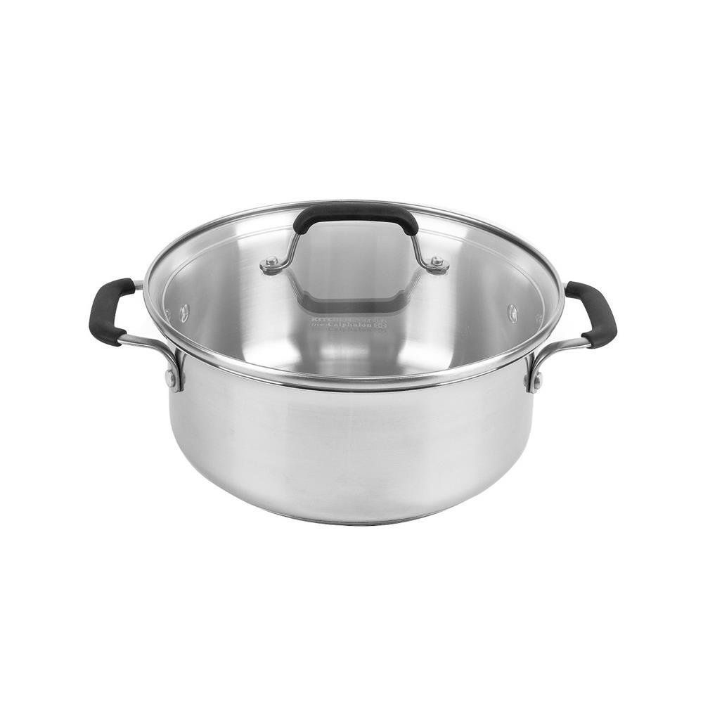 Calphalon Kitchen Essentials Stainless Steel 5-qt. Dutch Oven ...