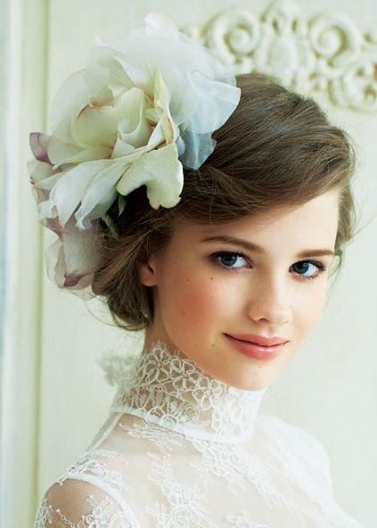 「結婚式 花嫁 ショート ワンポイント」の画像検索結果