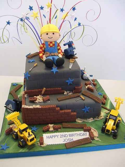 Bob The Builder Bob The Builder Cake Construction Birthday Cake