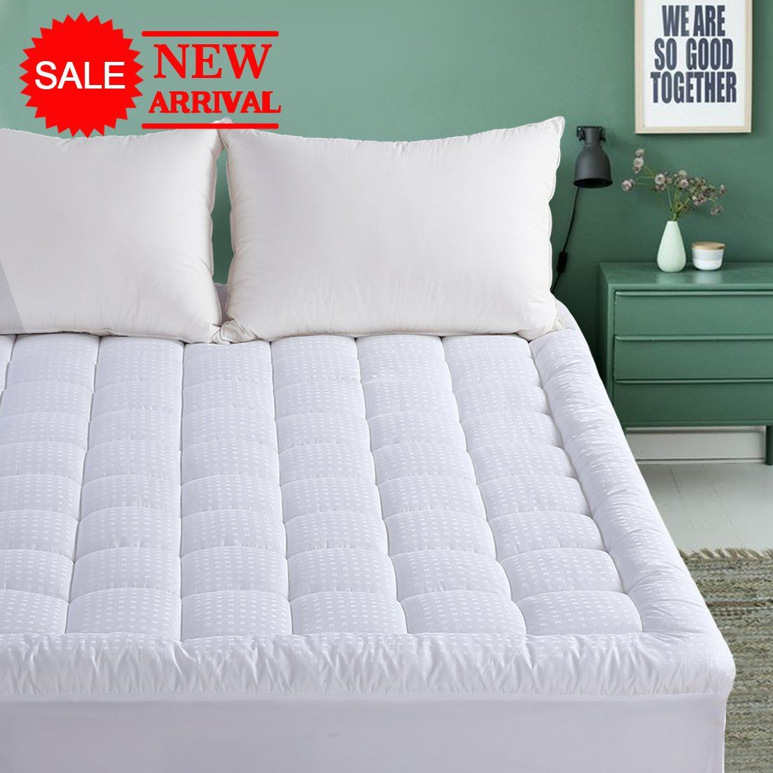 Queen Mattress Pad 300tc Down Alternative Pillow Top Mattress