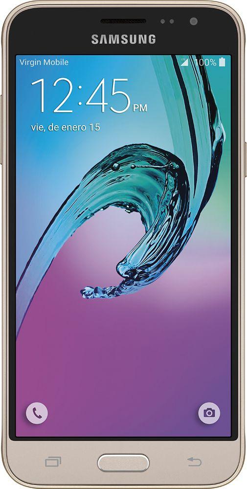 Samsung Galaxy J3 4g Lte With 16gb Memory Cell Phone Gold Sprint Sphj320kit Best Buy Samsung Galaxy Samsung Galaxy A3 Samsung