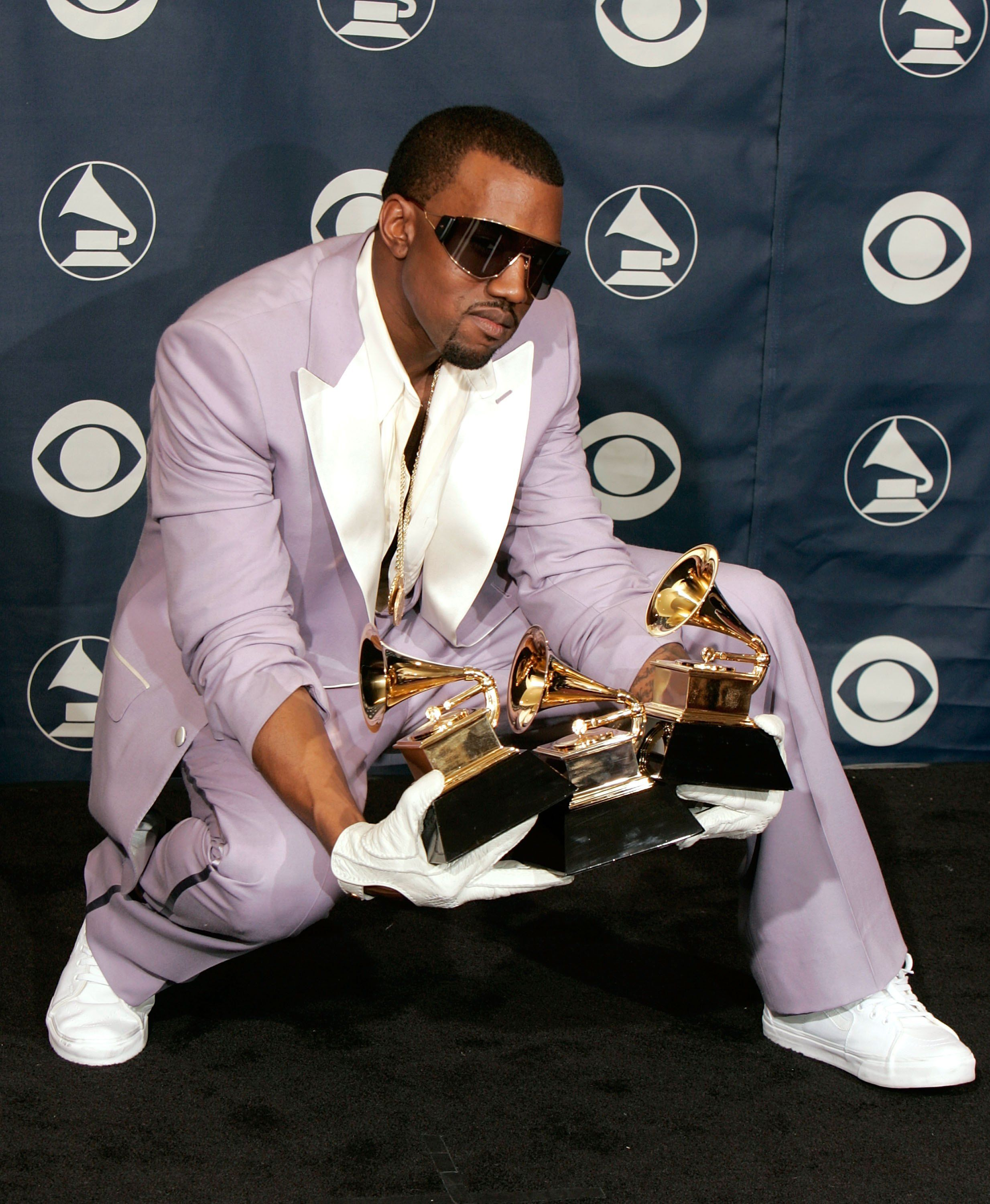 Kanye At The 2007 Grammys