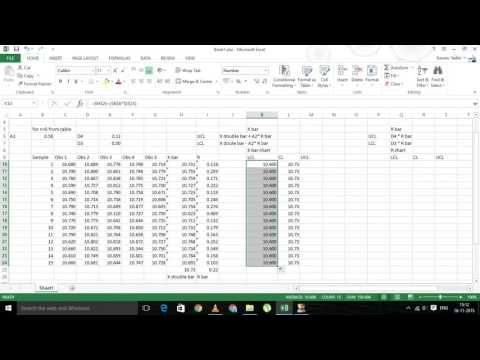 How to create x bar and r control charts in excel youtube excel how to create x bar and r control charts in excel youtube ccuart Image collections