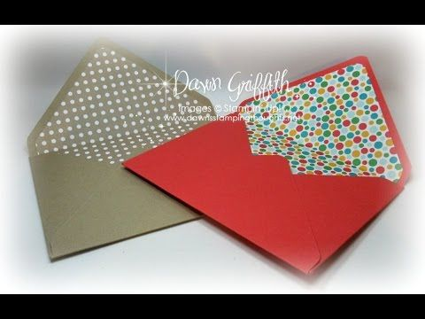 Dawns Stamping Studio: Making envelopes liners for all size envelopes video