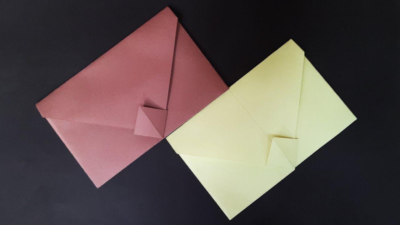 Envelope Making Tutorial With Paper Diy Easy Origami Envelope Origami Envelope Easy Origami Envelope Origami Easy