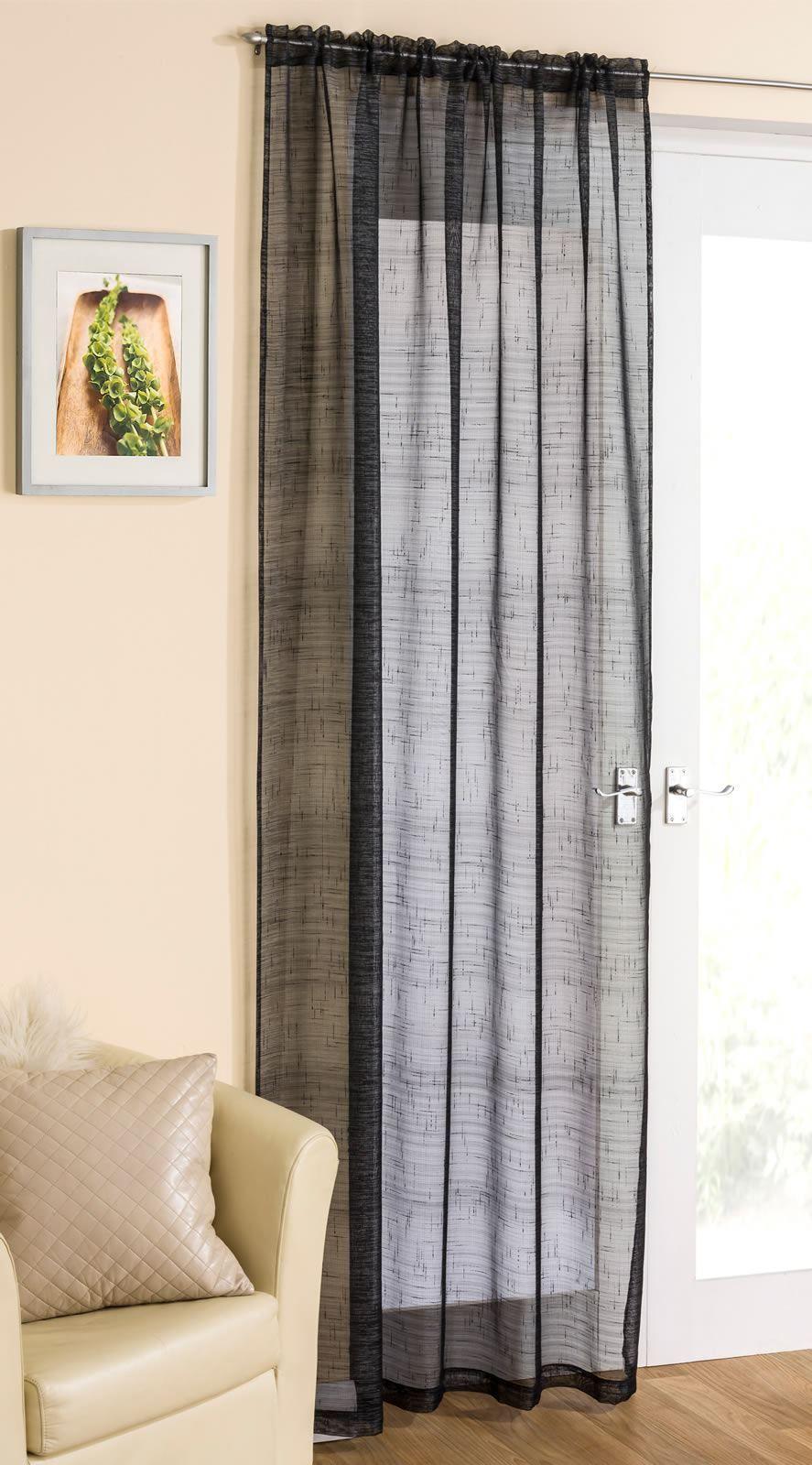 Details About Sparkle Voile Curtain Panel Linen Lace Curtains