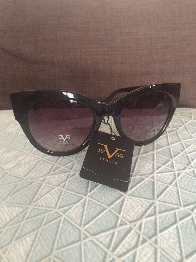 7c7338ca3d67 19V69 Italia Versace 1969 BLK Sicilia Black Cat Eye Women's Sunglasses NWT  | eBay