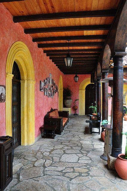 Patios Y Terrazas Estilo Rustico Spanish Style Homes Hacienda Style Mexican Hacienda