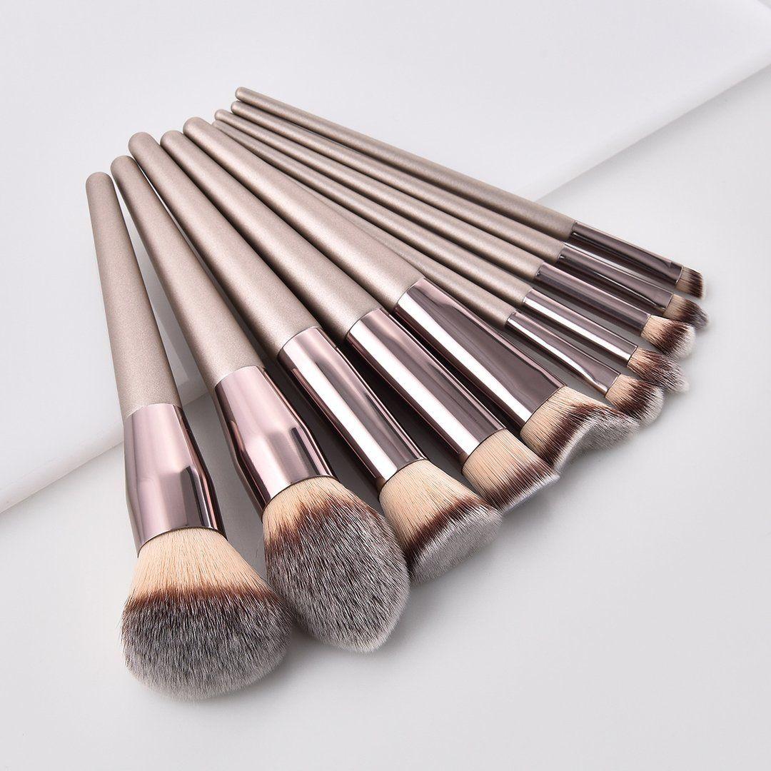 10Pcs/Set High Quality Pro Makeup Brush Kit EyeShadow