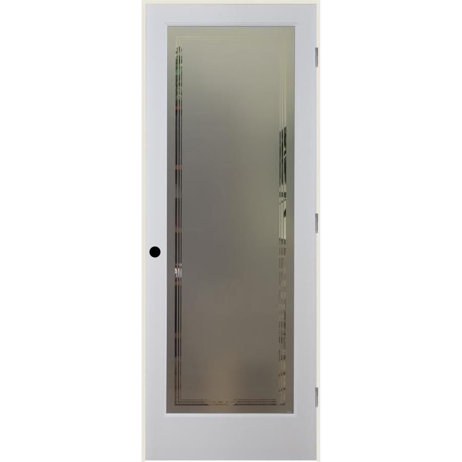 Reliabilt White 1 Panel Solid Core Frosted Glass Wood Pine Single Prehung Door Common 32 In X 80 In Actual 33 Reliabilt Frosted Glass Solid Interior Doors