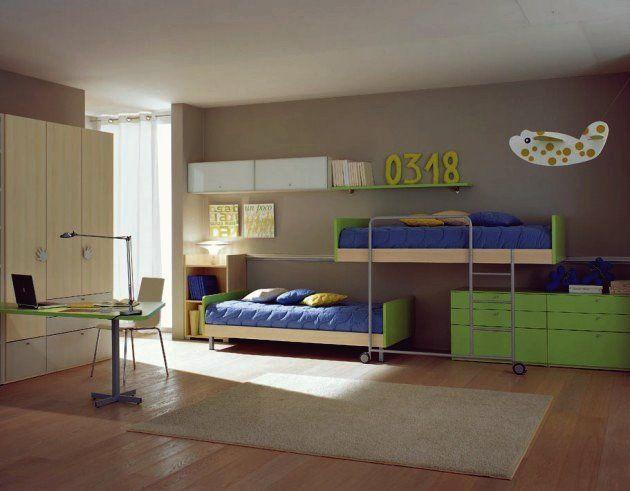 16 funktionale Ideen für gemeinsame Kinderzimmer für zwei