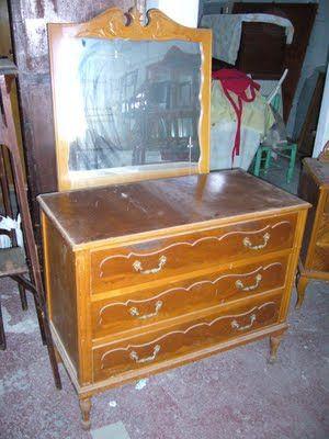 La restauradora muebles patinados algunos trabajos for Muebles antiguos reciclados