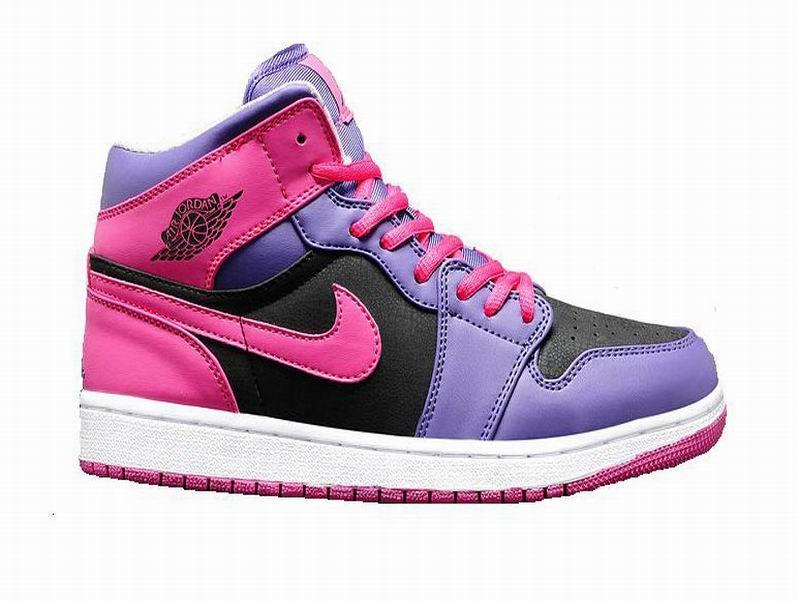 9d1112697d3 Air Jordan I AJ1 Mid (GS) - Nike Air Jordan Baskets Pas Cher Chaussure Pour…