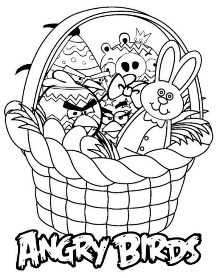 Online Coloring Sheets Of Angry Birds Toys