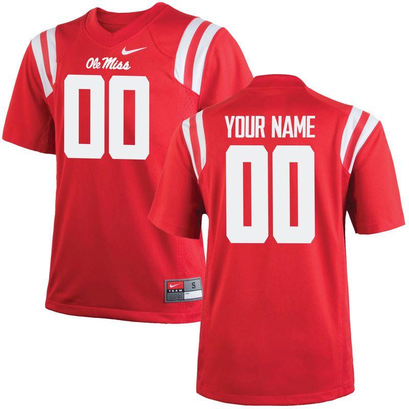 Ole Miss Rebels Nike Youth Custom Replica Jersey Red